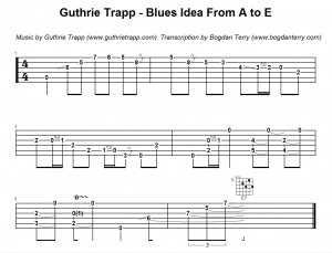 Guthrie Trapp Blues Idea From A to E
