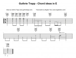 Guthrie Trapp Chord Ideas In E